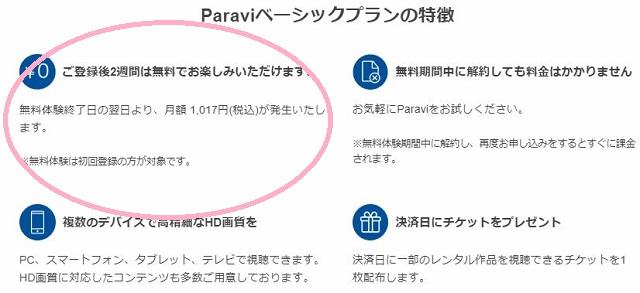 Paravi(パラビ)解約方法